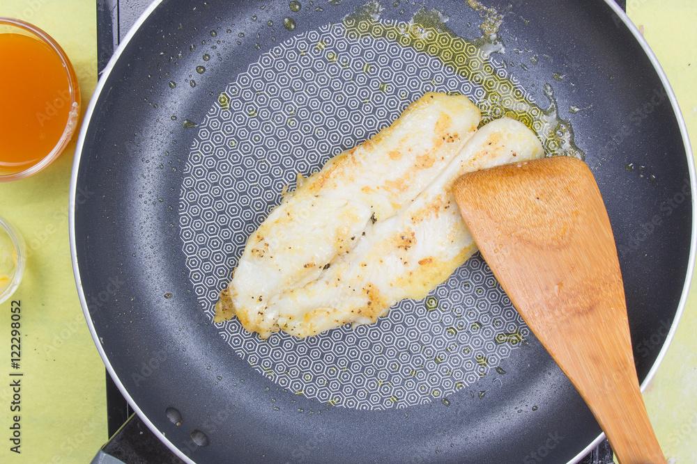 Photo  cooking dory fish Steak