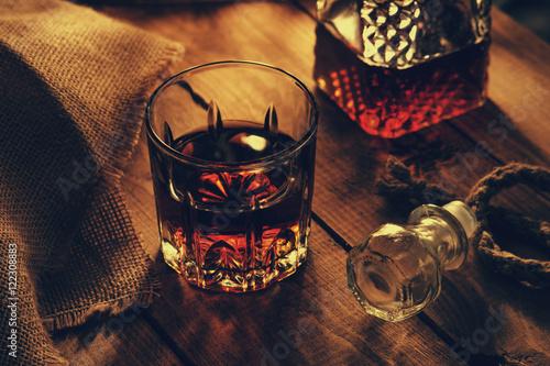 Glass of whiskey Fototapeta