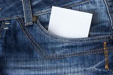 Paper In Blue Jeans Pocket