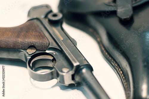 Fotografie, Obraz  Luger P08 Parabellum handgun.