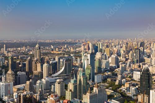 Photo  Aerial view cityscape downtown skyline, Bangkok Thailand