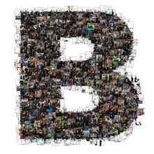 B Letter Photomosaic From Business Oriented Photos