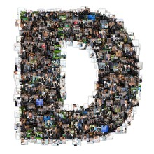 D Letter Photomosaic From Business Oriented Photos