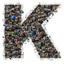 K Letter Photomosaic From Business Oriented Photos