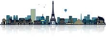 Paris Frankreich Skyline Panor...