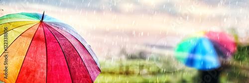 Fotografie, Obraz  A Rainy Day in Autumn