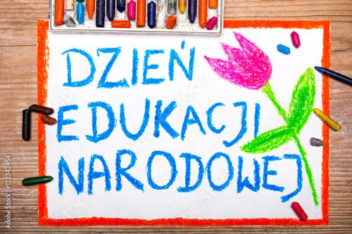 Fototapeta Kolorowy rysunek wykonany z okazji Dnia Nauczyciela obraz