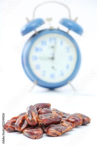 Poster  Dried dates (fruits of date palm Phoenix dactylifera).