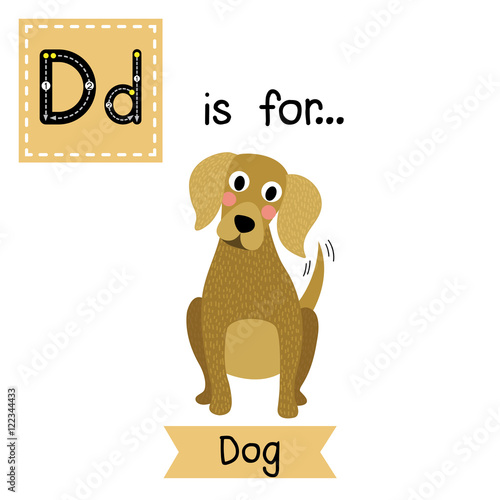 886f86cd8 Cute children zoo alphabet flash card. Funny cartoon animal. Kids abc  education. Learning English vocabulary. Vector illustration. By natchapohn. D  letter ...