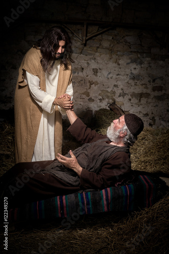 Papel de parede Jesus healing the crippled man