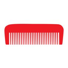 Comb , Barber Comb, Red Plasti...
