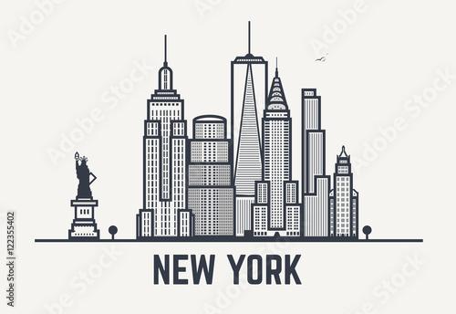 Czarne linie w Nowym Jorku