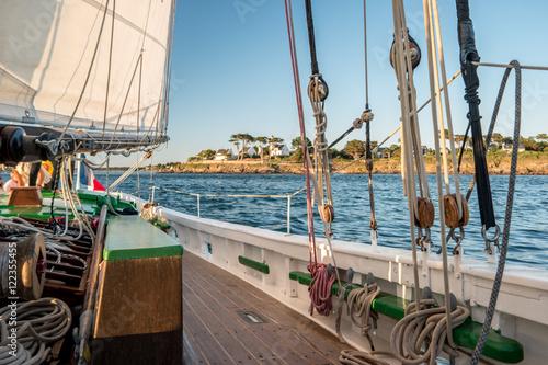 Fotografiet  Filets sur le port de la Turballe