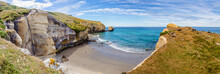 Panorama Of The Tunnel Beach From The Coast Rock