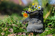 Touristic boot with flowers