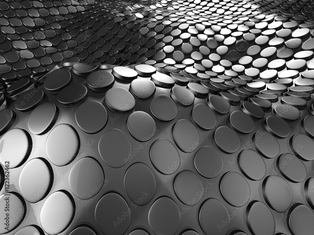 Dark Silver Metallic Abstract Background