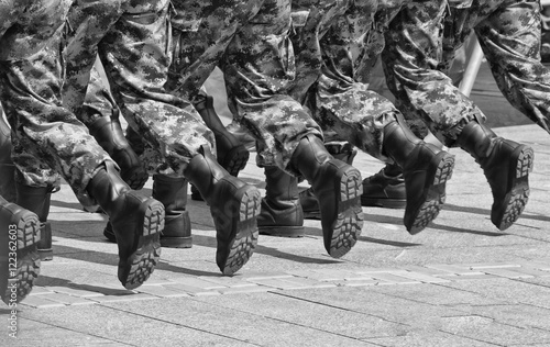 Military boots 4 Fototapete