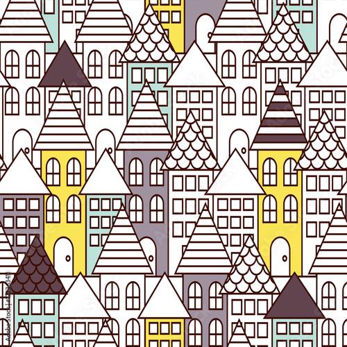 czesciowo-kolorowy-zarys-miasta-bez-szwu-wektor-wzor-miasto-krajobraz-z-domami-powtarza-tlo-styl-linii-kolorowanki