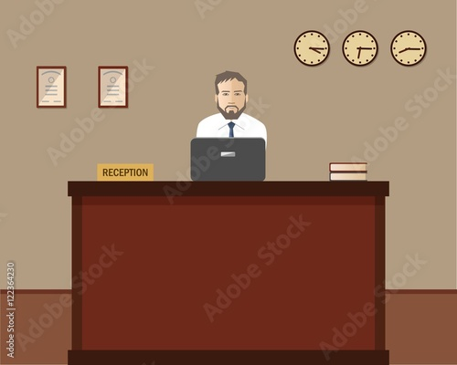 25+ Male Receptionist Cartoon Background