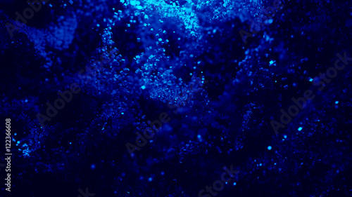 Abstract Colorful Cube Particles Background - 3D illustration