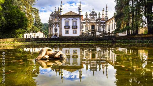 Foto op Plexiglas Kasteel beautiful Vila real castle in Portugal - Solar de Mateus