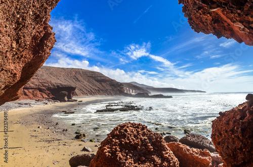 Foto op Plexiglas Marokko Legzira beach