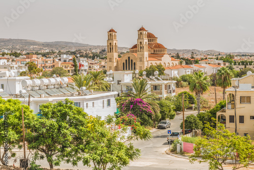 Poster Cyprus Вид на город Пафос, Кипр.