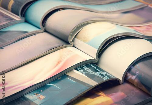 Obraz na plátně pile of magazines - colorful