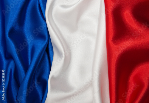 Fotografía Flag of France on satin texture