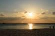 夕日と白良浜