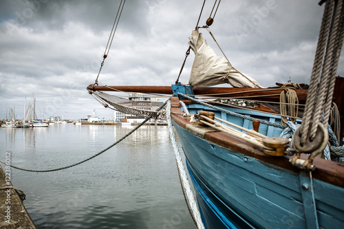 Canvas Prints Ship Ships in the Port at Fecamp Normandy France