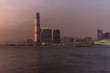 Colorful Sunset on Kowloon in Hong Kong - 1