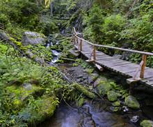 Waterfalls At River Bila Opava - Hiking Trail, Jeseniky Mountains, Praded Mountain, Town Karlova Studanka, Czech Republic