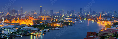 Canvas Print Panorama view of bangkok