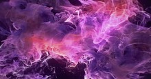 Motion Background VJ Loop - Dark Pink Magenta Orange Particles 4k