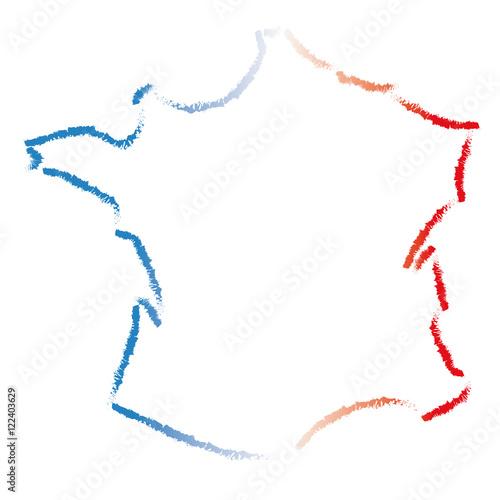 carte de france vectorielle Carte de france vectorielle effet crayonné   Buy this stock vector