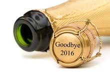 Goodbye 2016 - Champagnerflasche Mit Korken