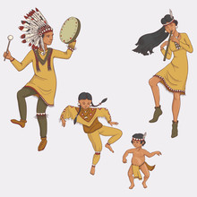Native Americans, Dancing Indi...