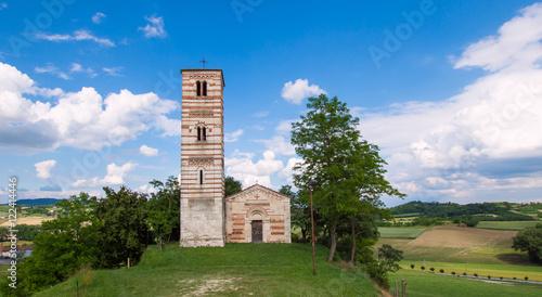 Saints Nazario and Celso Church (Montechiaro AT) Piedmont Italy Canvas Print