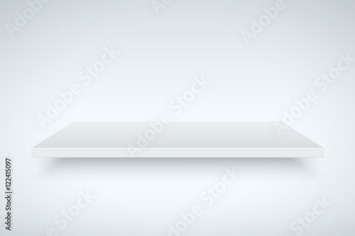Canvastavla Light box with white platform. Editable Vector illustration.