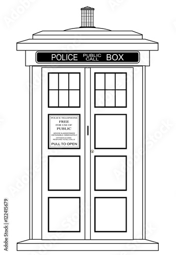Photo Old Fashioned British Police Box