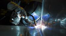 Industrial Steel Welder In Fac...