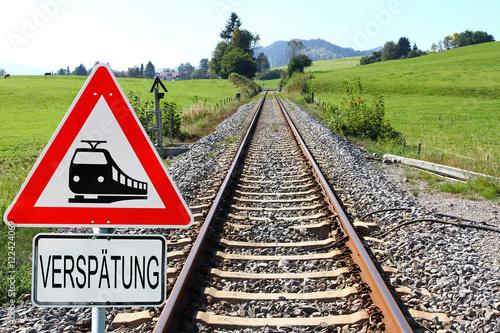 Fotografie, Obraz  Verspätungen bei der Deutschen Bahn