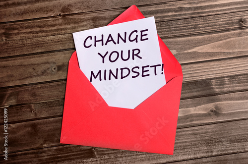 Photo  Change your mindset words on paper