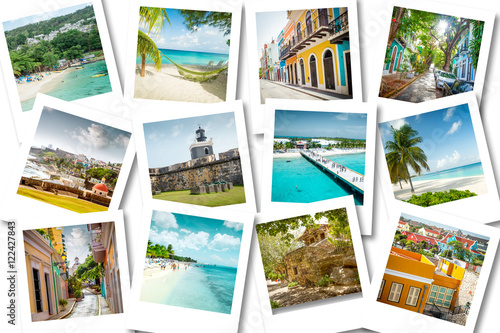 Photo Stands Caribbean Cruise memories on polaroid photos - summer caribbean vacations