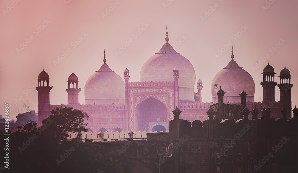 Fototapety, obrazy: Domes of the The Badshahi Mosque