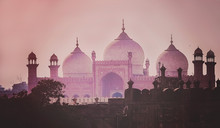 Domes Of The The Badshahi Mosque