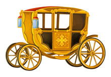 Cartoon Carriage - Transportation - Isolated - Illustration For Children