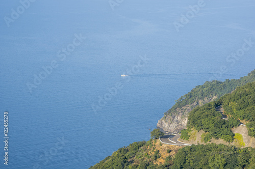 Fotografie, Obraz  海と山