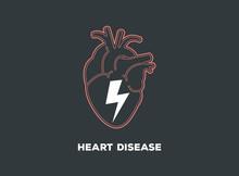 Heart Disease Logo Vector Icon Symbol